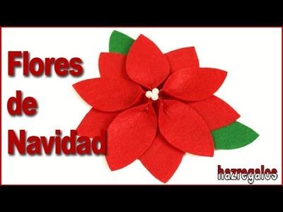 COMO HACER FLORES DE NAVIDAD PARA DECORAR
