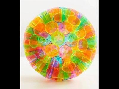 Como hacer una esfera de vasos desechables