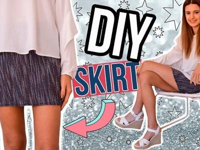 Cómo hacer una falda en un minuto - DIY easy SKIRT [fácil, rápido y barato]
