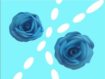 Como hacer una rosa azul en 2 minutos | DIY PAPER FLOWER