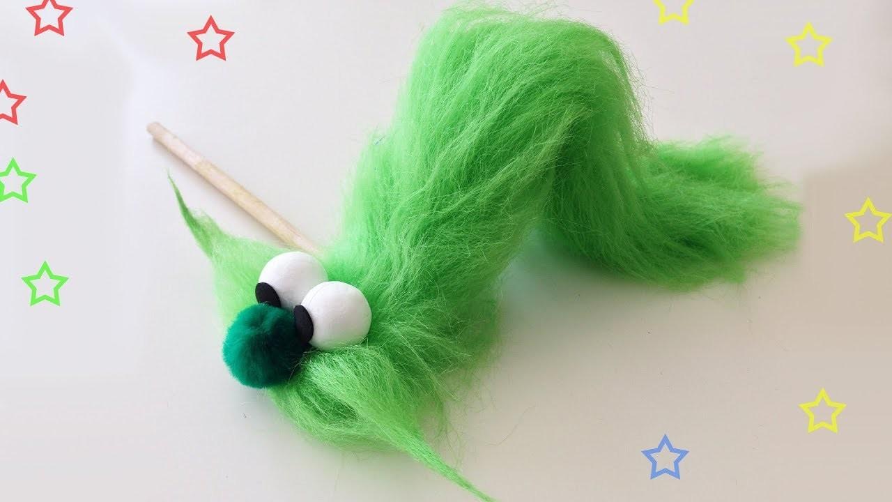 Como hacer unTítere de Oruga - Manualidades Para Todos - Caterpillar puppet