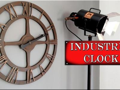 Como se Hace Reloj Industrial de pared Efecto Metal. Decoración