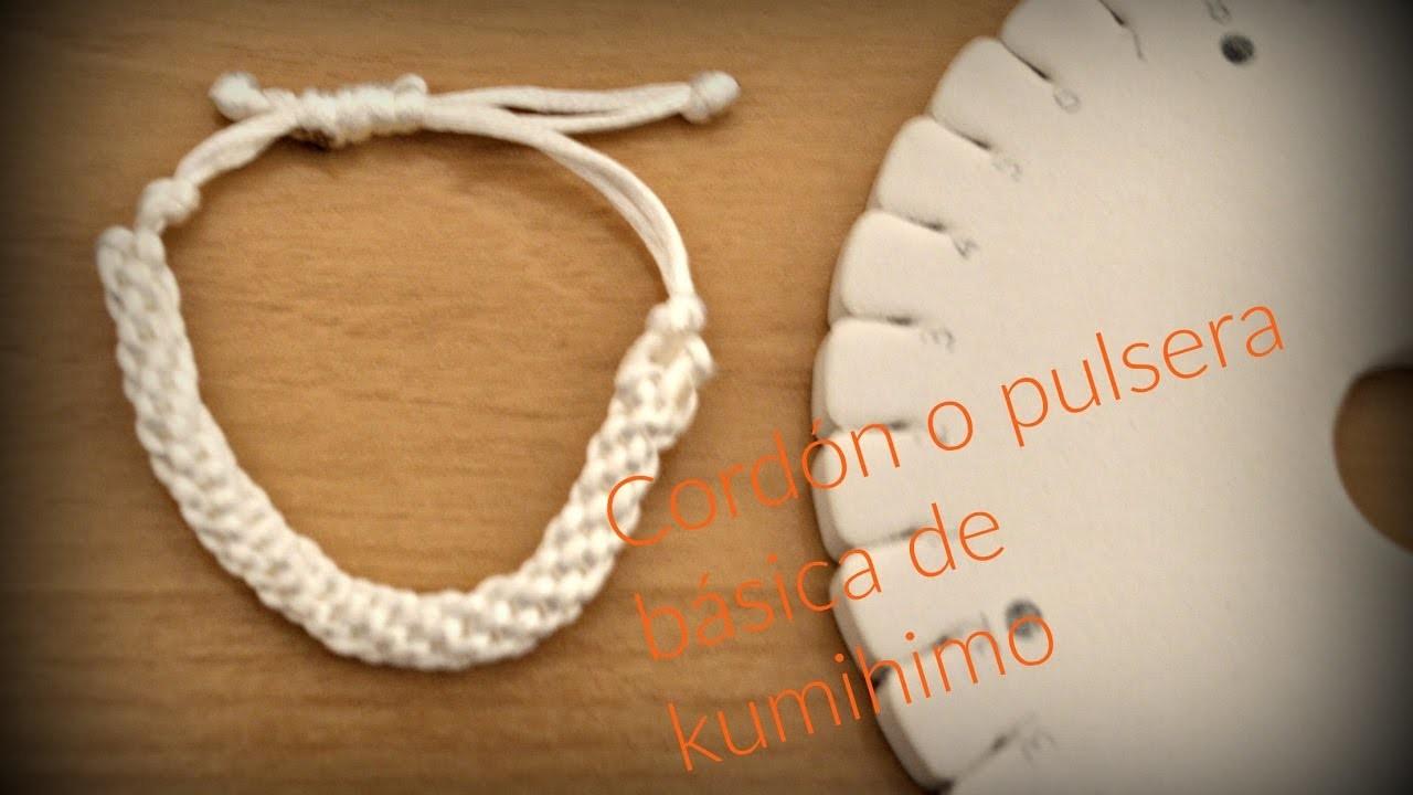 Cordón o pulsera básica    Kumihimo