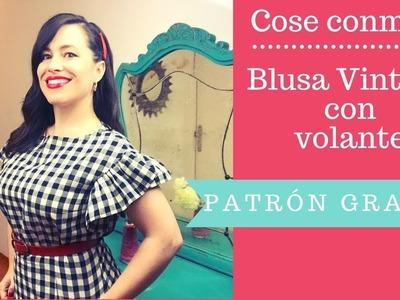 Cose Conmigo: Blusa Vintage con Volante (Patrón GRATIS)!