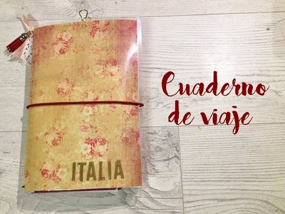 Cuaderno de viaje tipo midori. Handmade travel journal