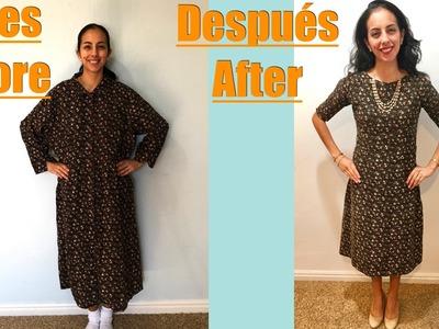 De Vestido Aseñorado a Vestido Super Moderno.From an Old Dress to a Modern Dress