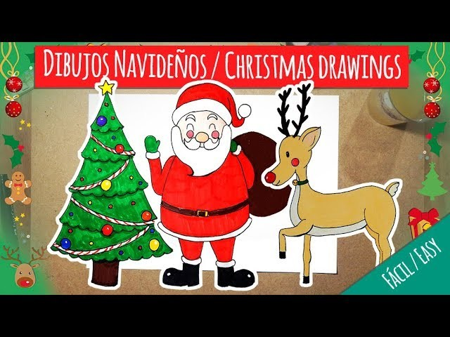 Fotos Y Dibujos Navidenos.Dibujos Navidenos Nivel Facil Christmas Drawings Easy