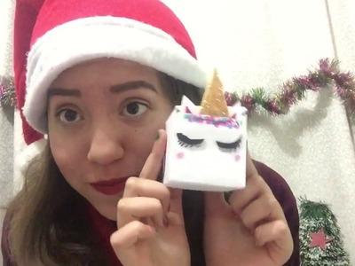 Diy cajas de unicornio.especial de navidad