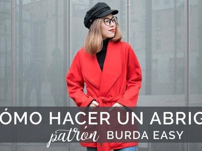 DIY ~ Cómo hacer un abrigo o chaqueta para mujer. Patrón BURDA EASY.