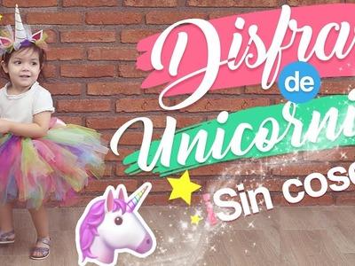 DIY DISFRAZ DE UNICORNIO!! ???? FÁCIL SIN COSER!???? UNICORN COSTUME !!