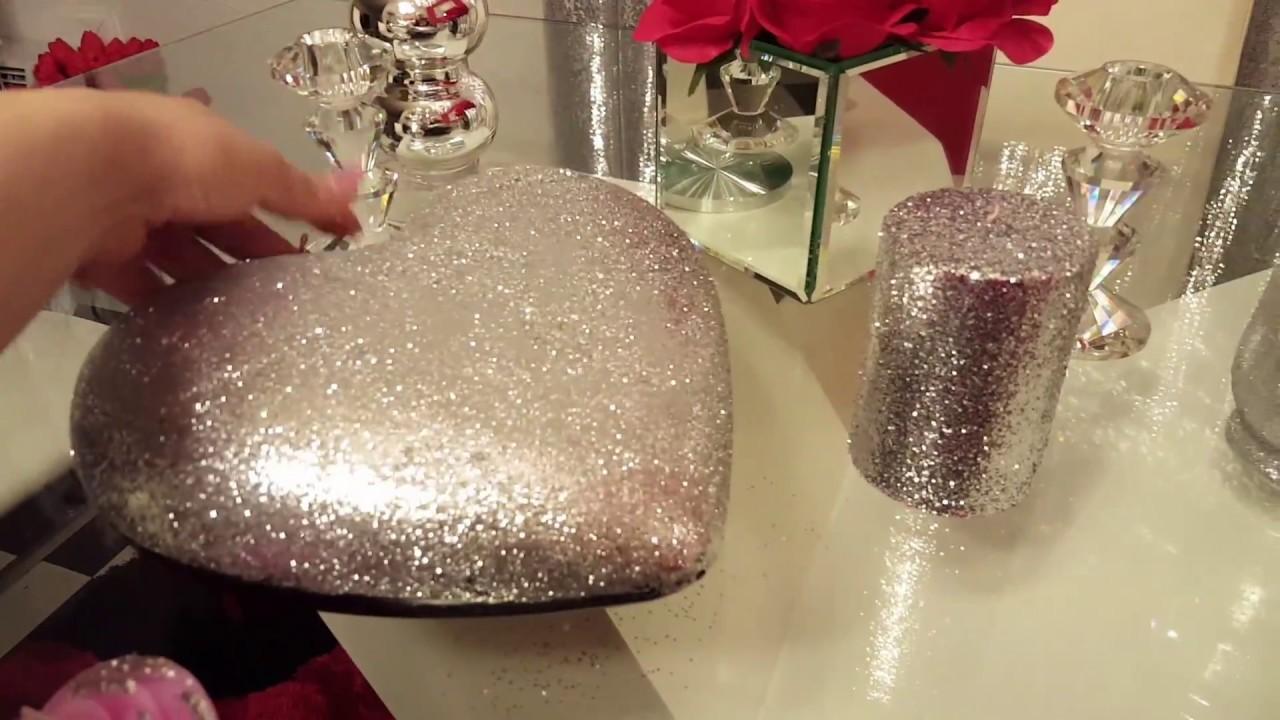 DIY dollar TREE Como hacer velas decorativas en glitter,