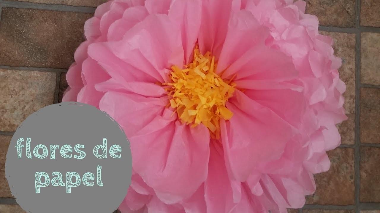 DIY flores con papel de china o seda. como hacer