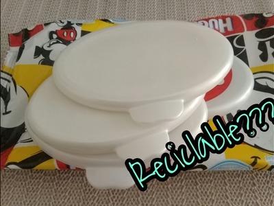 DIY: Tapa de Toallitas Húmedas Reciclable!!.Reusable Wet Wipes Top!!