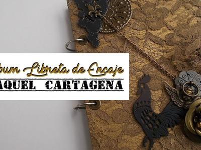 DIY TUTORIAL libreta vintage de encaje scrapbooking