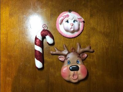 Esferas de navidad en porcelana fria.christmas spheres in cold porcelain