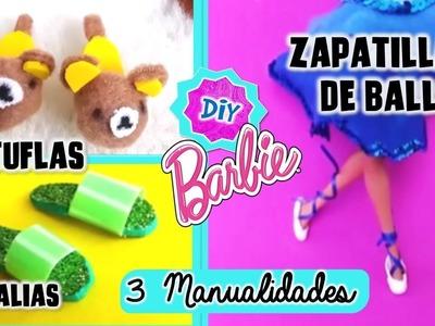 Haz PANTUFLAS, SANDALIAS , ZAPATILLAS de BALLET para MUÑECAS Barbie muy FÁCIL! MANUALIDADES Muñecas