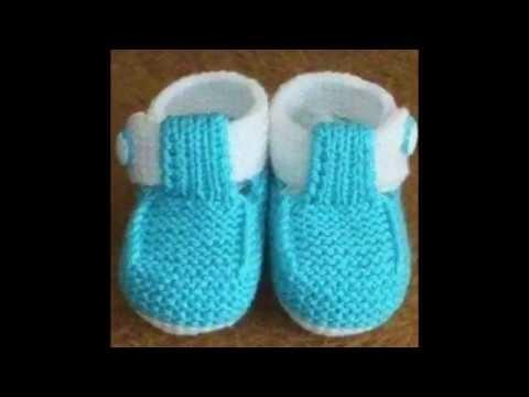 Hermosos zapatitos de bebe tejidos en crochet o ganchillo