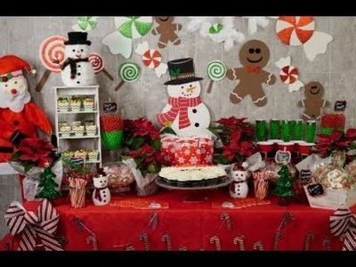 Manualidad| Mesa de dulces | Mesa de postres Navideña