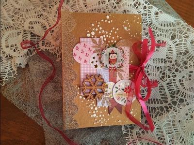 Mini álbum de Navidad económico con pegatinas de Tiger y papeles sobrantes - TUTORIAL -