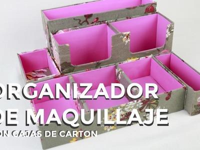 ORGANIZADOR de MAQUILLAJE de CARTÓN❤ FantasticAzul