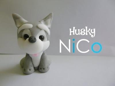 Perro siberiano de cerámica fría - Husky dog of polymer clay | Fácil