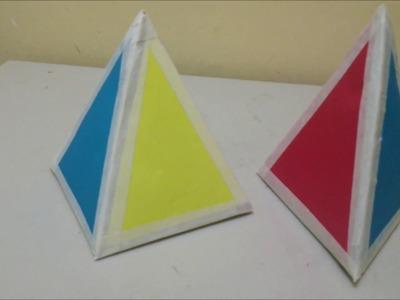 Piramide, rápido, fácil y resistente. manualidades creativas