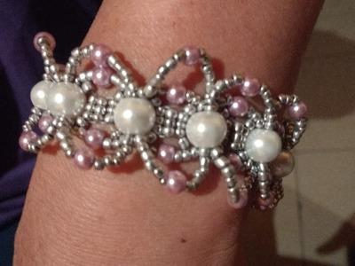 Pulsera Diana de perlas y chaquiras