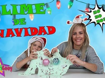 SLIME DE NAVIDAD | MAKING CHRISTMAS SLIME DIY | DIVERTIGUAY