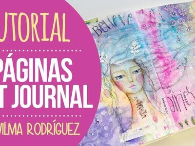 Tutorial Página de Art Journal - por Wilma