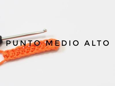 05  PUNTO MEDIO ALTO EN GANCHILLO  CURSO DE GANCHILLO BLUE BUBALU