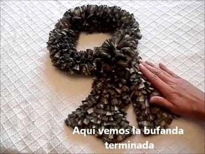 Bufanda con lana tipo cinta