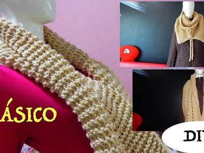 Bufanda Fácil y Rápido tejido dos agujas punto santa clara, easy knitting scarf DIY