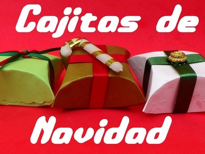 Cajitas de regalo en cartulina para Navidad ~ Manualidad Fácil