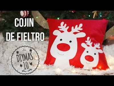 Cojín de Fieltro Navideño con renos