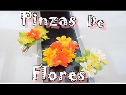 Como hacer pinzas de flores para el pelo