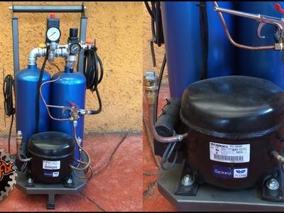 Como hacer un Compresor de Aire Silencioso . Silent Air Compressor |DIY