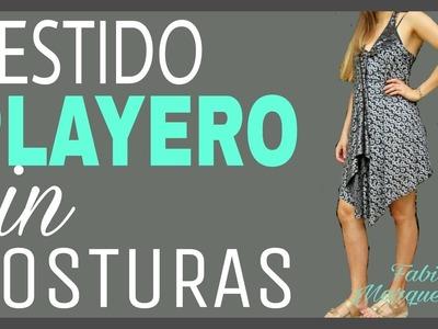 Cómo hacer un VESTIDO PLAYERO SIN COSTURAS - Fabiana Marquesini - 29