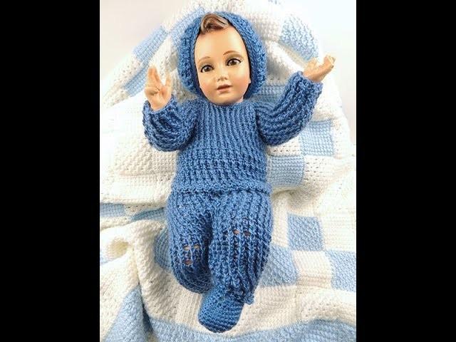 Crochet: Traje Niño Jesús. Chaqueta