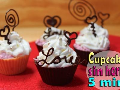 Cupcakes sin horno en 5 min