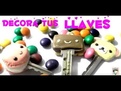 Decora tus llaves♥.♥Personalize your keys♥ korilakkuma,macarron,biscuit♥
