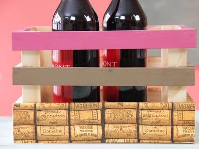 Decoupage - Cajon de madera  para Vino - Tip New Plenty
