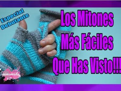 DIY. Aprende A Tejer Mitones Muy Fácil.How To Knit Fingerless Easily.