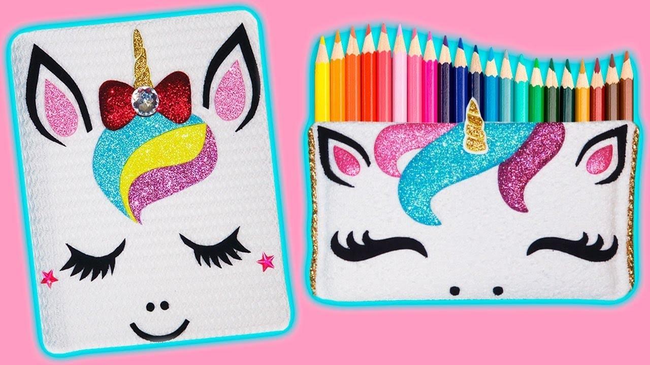 ???????? DIY: Cuaderno y Estuche o Lapicera de Unicornio || #RainboWeek 7 ????????