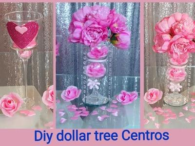 Diy ????dollar tree????????Centros de mesa para fiestas super formales. calendabro para dia del amor ????