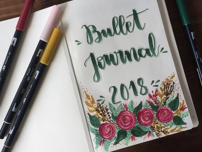 EDICIÓN BULLET JOURNAL 2018 + ENERO [TresTulipanesRojos]