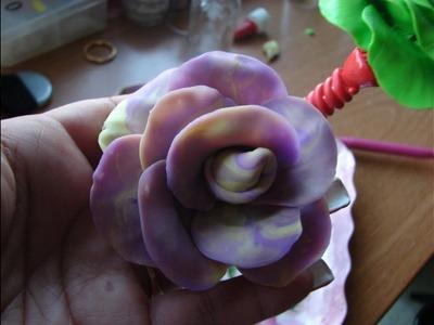 Flor en porcelana fria