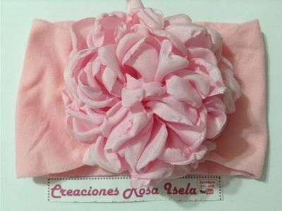 Flor  grande de tela  super económica y muy vistosa  VIDEO No.540 creaciones rosa isela