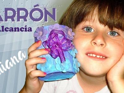 JARRÓN O ALCANCÍA CON LATA