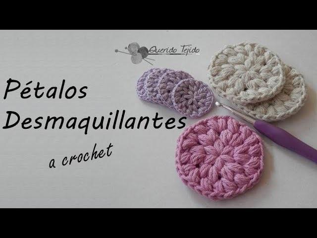 Petalos Desmaquillantes a Crochet- Crochet Make-up Remover Pads ENGLISH SUB