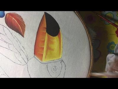 Pintura en tela Tucán # 3 con cony